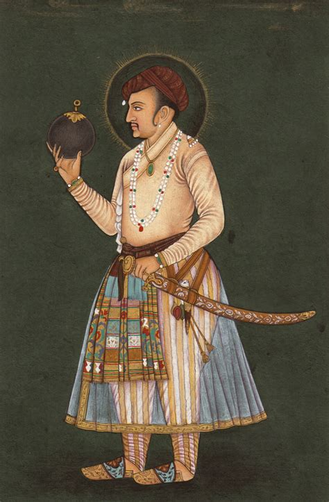 Handmade Portraits - imperial mughal painting handmade jahangir portrait indian