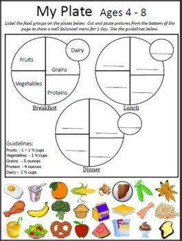 My Plate Worksheet by Image Gallery Myplate Worksheet