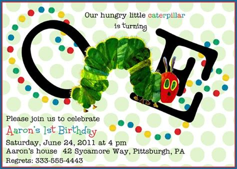 hungry caterpillar invitation template free hungry caterpillar birthday invitations dolanpedia