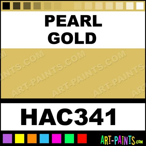pearl gold artists acrylic paints hac341 pearl gold paint pearl gold color acryla artists