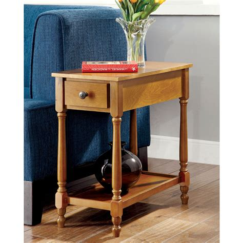 chairside tables with storage bris transitional chairside side table storage drawer