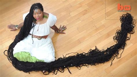 worlds largest public hair world s longest dreadlocks held by asha mandela the