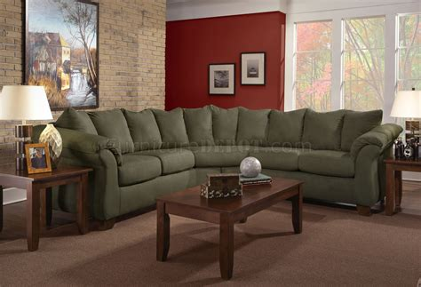 olive couch olive microfiber modern sectional sofa w optional items