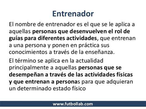definicion de futbol sala glosario de terminos para entrenadores de futbol