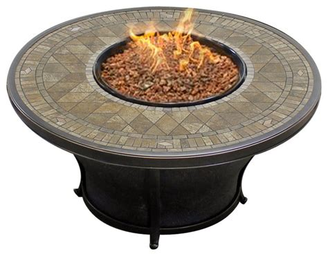 Agio Firepit Agio Balmoral 48 Quot Porcelain Top Pit Mediterranean Pits By Design Furnishings