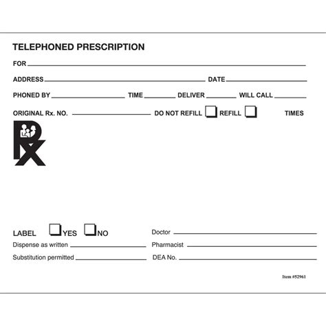 prescription pad template blank rx pictures to pin on pinsdaddy