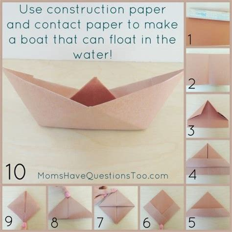 What Can I Make With Construction Paper - follow these directions to make floating paper boat use