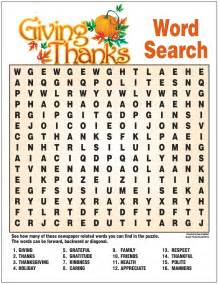 Giving thanks word search border