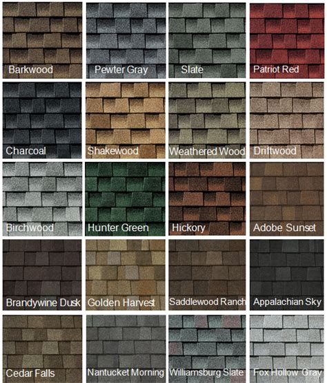 roofing shingle color choices capecod