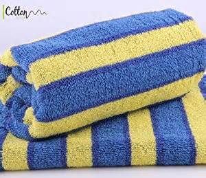 blue and yellow bath towels cotton zone striped 100 cotton towels blue