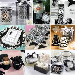 black and white bridal shower favors how to plan a black and white wedding