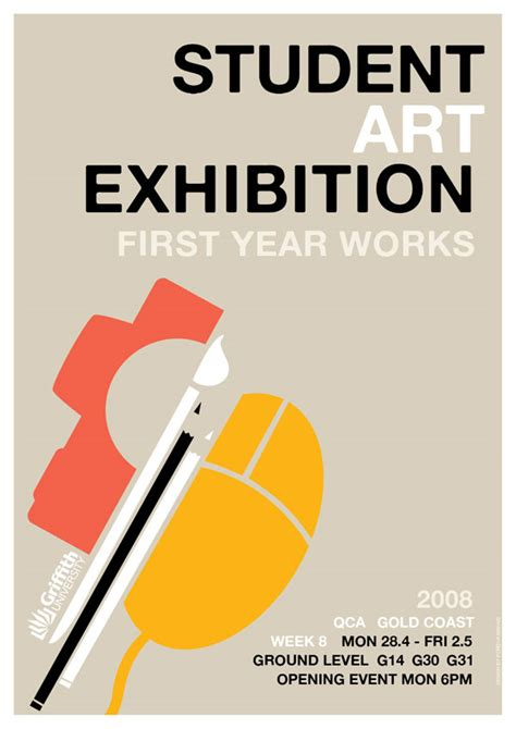 design poster exhibition like pastel colors and use of different vectors to make