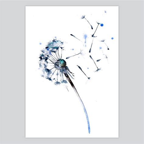 watercolor tattoo dandelion dandelion watercolor print somnia at artollo