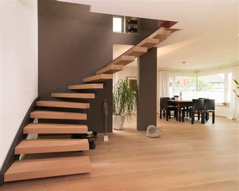 Houzz by Offene Treppe Im Wohnbereich Modern Treppenhaus