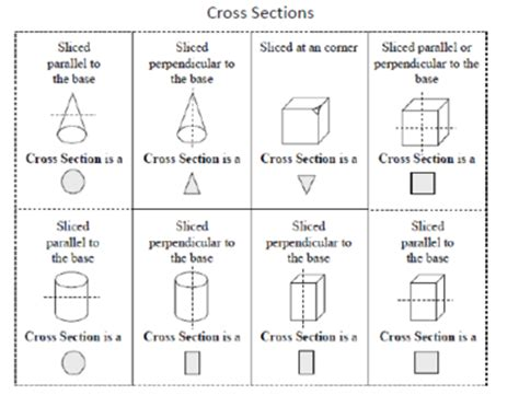 cross section of a 3d shape geometry study guide 7th grade common core