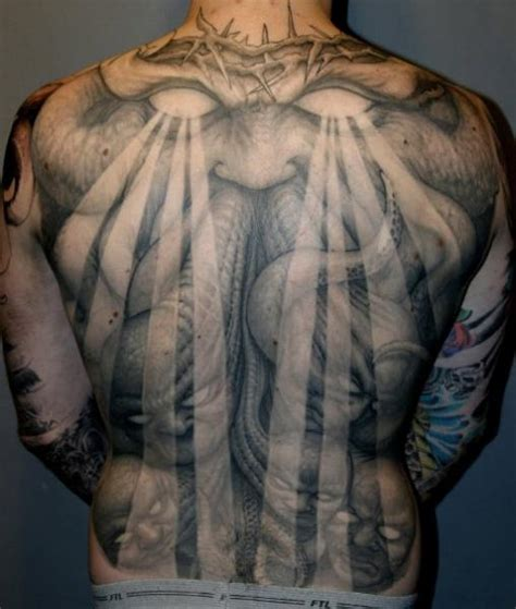 tattoo back monster tatuaje fantasy espalda monstruo por dark images tattoo