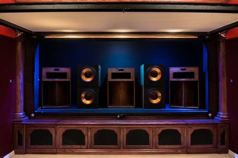 home build klipsch la scala trio home theater room build the