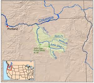 Oregon Rivers Map by Map Oregon S John Day River Oregon Maps Pinterest