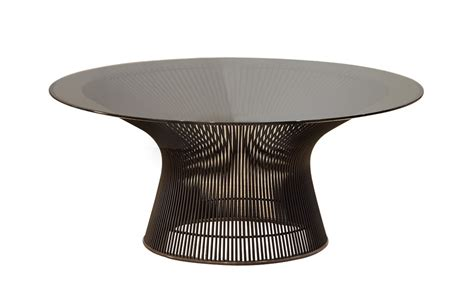 platner coffee table platner 36 quot bronze coffee table hivemodern