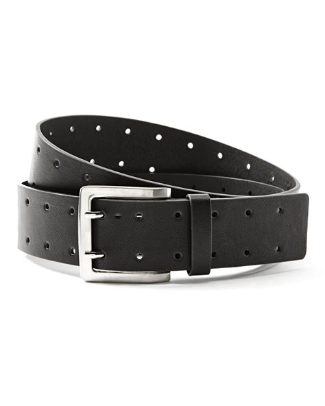 punch faux leather belt addition