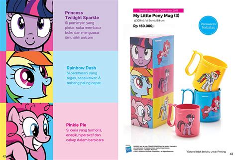 Tupperware My Pony Mug 3pcs my pony mug 3 tupperware produk terbaru tupperware
