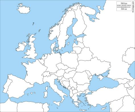 map de l europe carte de l europe vierge