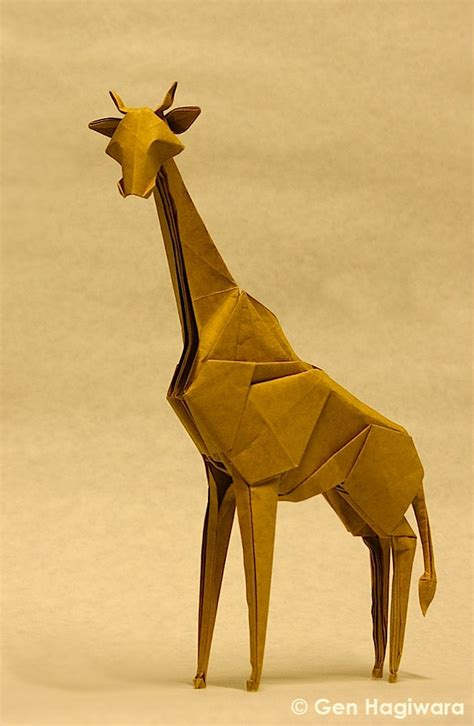 Easy Origami Giraffe - origami safari 26 beautiful animals made out of paper