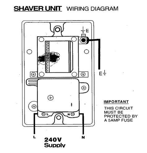 shaver socket wiring diagram shaver free engine image