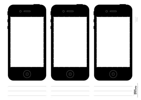 iphone template free free iphone sketch template