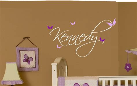 Nursery Wall Name Decals Butterfly Name Baby Wall Decal Nursery Decor Vinyl