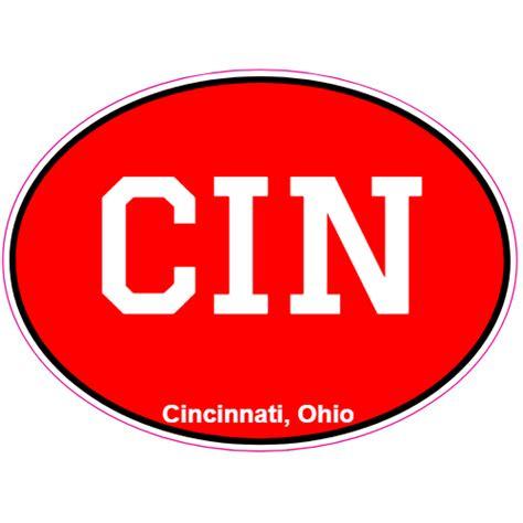 Stiker Ogio cin cincinnati ohio oval sticker u s custom stickers