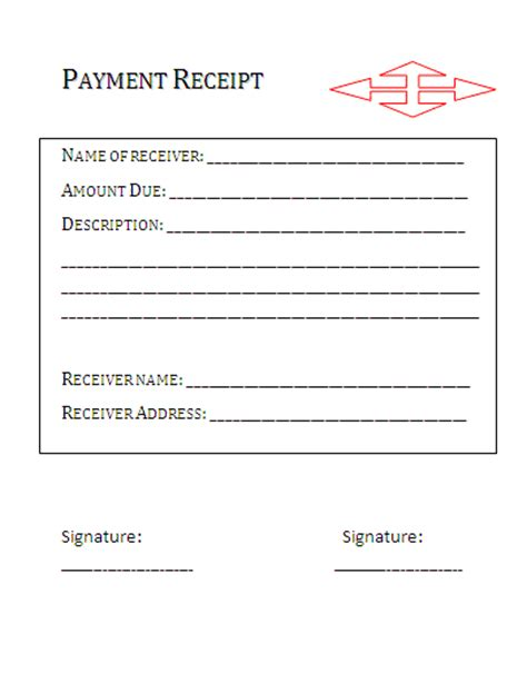 Paid Receipt Template Payment Receipt Format Free Business Templates