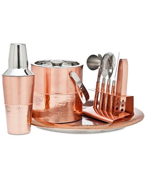 barware accessories godinger copper bar tools set serveware dining