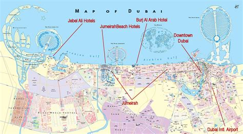 dubai on map view dubai map