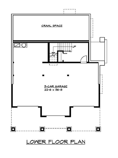 basement garage house plans craftsman bungalow home with 3 bedrooms 2675 sq ft