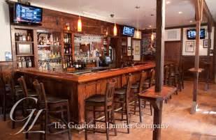 mahogany wood bar top with chicago bar rail in yardley pa