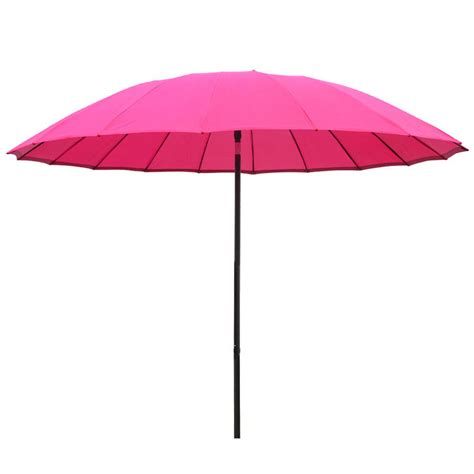 Pink Patio Umbrella Azuma 2 5m Tilting Parasol Sun Shade Canopy Umbrella Garden Outdoor Patio Pink