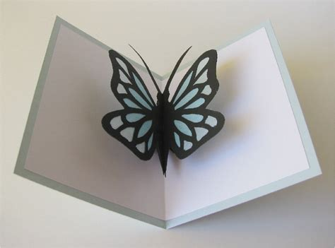 butterfly pop up card template butterfly pop up card blue by cornerstonelae on etsy