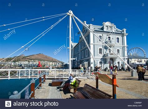 swinging in cape town swing bridge and african trading port building at v a
