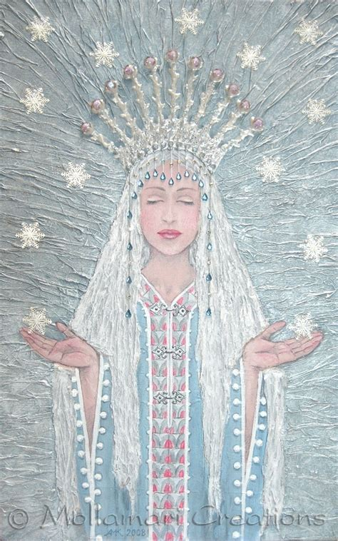 painting images mollamari creations paintings frost goddess