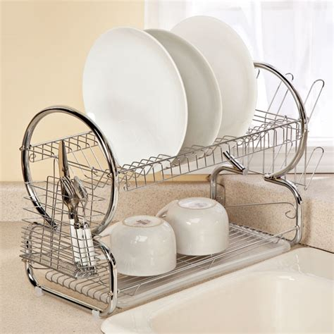 Two Tiered Dish Rack by Two Tier Compact Dish Rack Dish Drying Rack Kimball