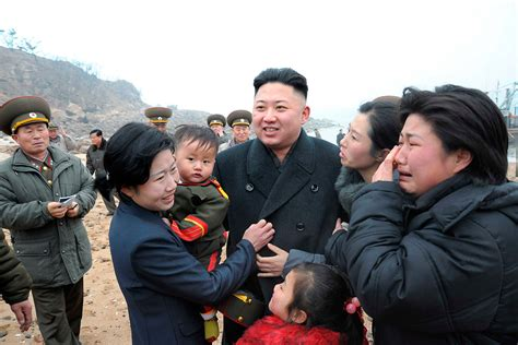 north korea kim jong un photos of north korean leader surrounded by