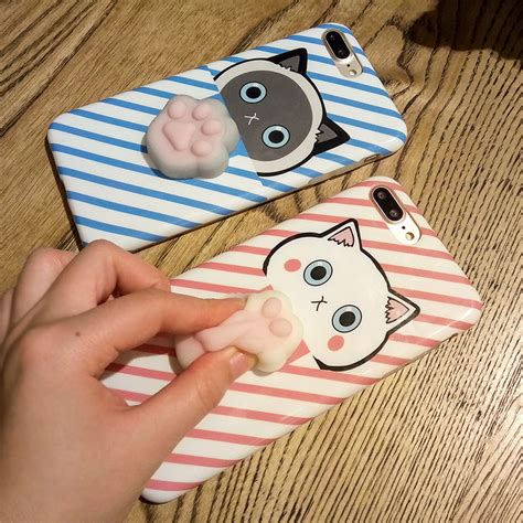 Squishy Iphone 6 Plus 6s Plus Soft Back Cover coque fundas i6 i6 plus 3d lovely squishy cases for iphone