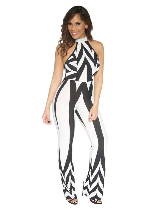 black geometric pattern printing sleeveless jumpsuit 69 best images about prints my sexy styles on pinterest