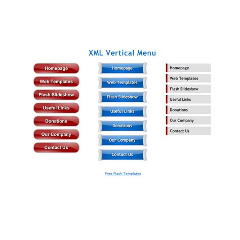 flash template 113 vertical menu