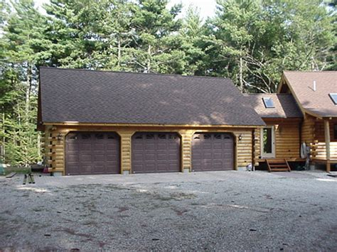 3 car garage homes log garages