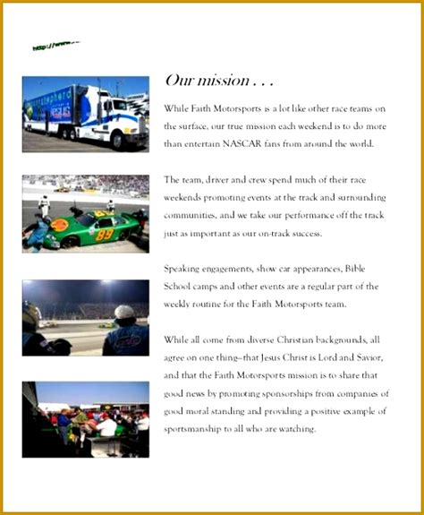 Free Racing Sponsorship Template