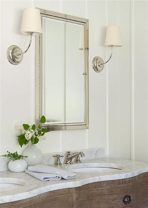 Cottage Style Mirrors Bathrooms by Style Bathroom With Large Venetian Mirror Cottage