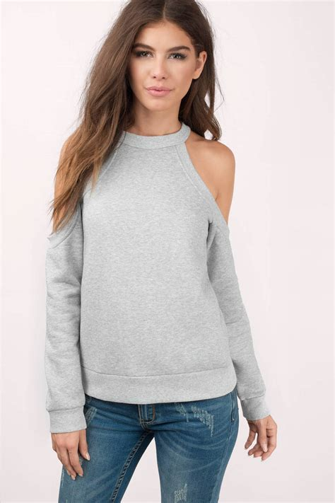 Sweater And cheap white sweater cold shoulder sweater 58 00