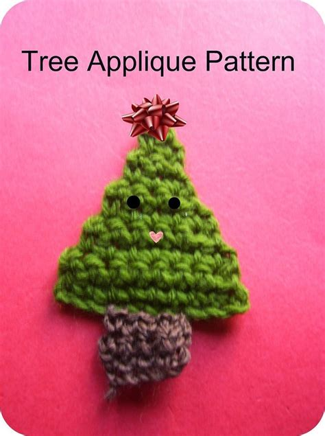 free christmas tree applique pattern simple triangle and